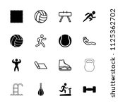 exercise icon. collection of 16 ... | Shutterstock .eps vector #1125362702