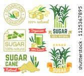 sugar production labels ... | Shutterstock .eps vector #1125367895