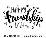 hand drawn typography poster.... | Shutterstock .eps vector #1125372788
