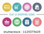 flat ui 8 color shopping icon...