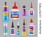glue sticks. adhesive super... | Shutterstock .eps vector #1125377852