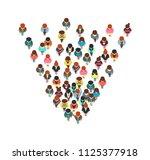 top view walking people ... | Shutterstock .eps vector #1125377918
