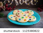 chocolate chip and candy... | Shutterstock . vector #1125380822