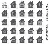 24 smart home line icons set of ... | Shutterstock .eps vector #1125381752