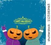 vector happy halloween creative ... | Shutterstock .eps vector #1125383465