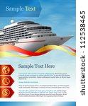 template for advertising.... | Shutterstock .eps vector #112538465