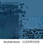 abstract painting on canvas.... | Shutterstock . vector #1125391535
