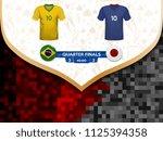 match playoffs. game between...   Shutterstock .eps vector #1125394358