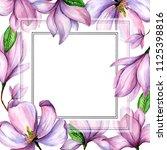 wildflower magnolia flower... | Shutterstock . vector #1125398816