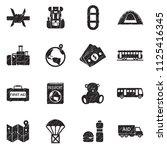 refugees icons. black scribble...   Shutterstock .eps vector #1125416345