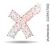 cross sign element. red low...   Shutterstock .eps vector #1125417332