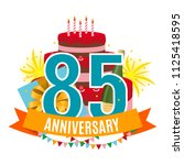 template 85 years anniversary... | Shutterstock .eps vector #1125418595