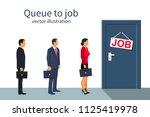 queue businesspeople standing... | Shutterstock .eps vector #1125419978