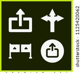 set of 4 arrows filled icons...   Shutterstock .eps vector #1125420062