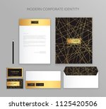 corporate identity business set.... | Shutterstock .eps vector #1125420506