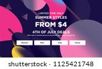 sale web banners template for... | Shutterstock .eps vector #1125421748