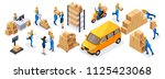 isometric delivery service ... | Shutterstock .eps vector #1125423068