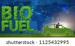 concept of bio fuel and ecology ... | Shutterstock . vector #1125432995