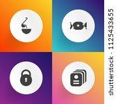 modern  simple vector icon set... | Shutterstock .eps vector #1125433655