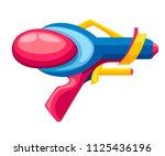 cartoon gun. flat vector...   Shutterstock .eps vector #1125436196