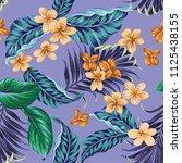 seamless vector tropical... | Shutterstock .eps vector #1125438155