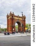 barcelona  spain   april 14 ... | Shutterstock . vector #1125444842