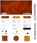 dark orange vector ui kit with...