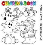 coloring book halloween topic 8 ...   Shutterstock .eps vector #112544822
