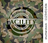 facility on camouflage pattern   Shutterstock .eps vector #1125451436