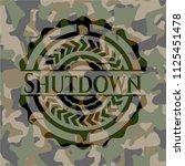 shutdown on camo pattern | Shutterstock .eps vector #1125451478