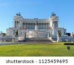 view of  altare della patria ... | Shutterstock . vector #1125459695