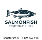 salmon  fish and fishing  logo... | Shutterstock .eps vector #1125462548