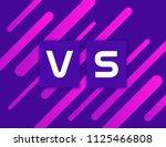 versus vs on colorful geometric ... | Shutterstock .eps vector #1125466808