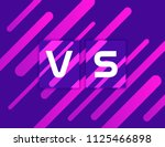 versus vs on colorful geometric ... | Shutterstock .eps vector #1125466898