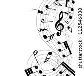musical notes staff background... | Shutterstock . vector #112546838