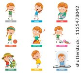 vector illustration of emotions | Shutterstock .eps vector #1125473042