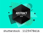 holiday golden shine abstract... | Shutterstock .eps vector #1125478616