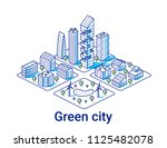 green city illustration in... | Shutterstock .eps vector #1125482078