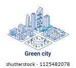 green city illustration in... | Shutterstock .eps vector #1125482078