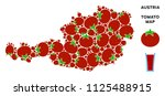 austria map composition of... | Shutterstock .eps vector #1125488915