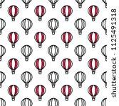 seamless air balloon pattern.... | Shutterstock .eps vector #1125491318