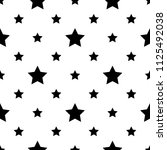 seamless monochrome pattern... | Shutterstock .eps vector #1125492038