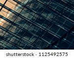 business city with reflection...   Shutterstock . vector #1125492575