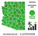 happy arizona state map collage ... | Shutterstock .eps vector #1125504308