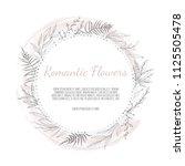 vector floral design card....   Shutterstock .eps vector #1125505478