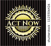 act now gold shiny badge | Shutterstock .eps vector #1125506426