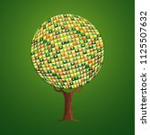 tree made of eco friendly... | Shutterstock .eps vector #1125507632