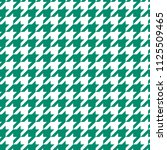 Green On White Houndstooth...