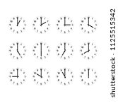 clock icon set showing the... | Shutterstock .eps vector #1125515342