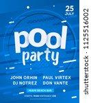 pool summer party invitation...   Shutterstock .eps vector #1125516002